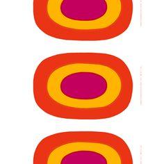 Marimekko Melooni Red/Yellow Fabric Repeat  $45.00