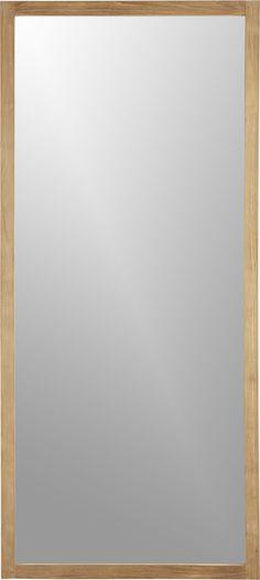 Linea Floor Mirror  | Crate and Barrel | Restrooms