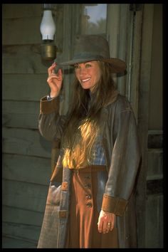 "Jane Seymour as: Doctor Michaela Quinn from the famous 90's show ""Dr. Quinn Medicine Woman."""