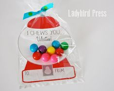 Mothers Day Crafts For Kids Discover Printable Gumball Valentines Day Card - Gumball Machine - Classroom Valentines - I Chews You My Funny Valentine, Kinder Valentines, Valentines Bricolage, Valentine Gifts For Kids, Homemade Valentines, Valentines Day Treats, Valentine Box, Valentine Day Crafts, Valentine's Cards For Kids