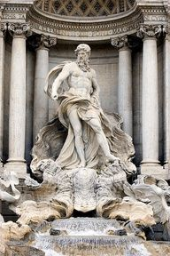 Trevi fountain pinned with Bazaart