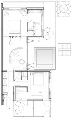 hotel-sezz-saint-tropez-villa-90sqm Hotel Floor Plan, House Floor Plans, Saint Tropez, Small Apartment Layout, Villa Plan, Hotel Room Design, Apartment Plans, Room Planning, House Layouts