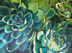 One leaf at a time by Robin McCoy Giclee ~ 30 x 40 Cactus Painting, Cactus Art, Fabric Painting, Watercolor Paintings, Floral Paintings, Pink Wallpaper Girly, Leaf Art, Botanical Art, Planting Succulents