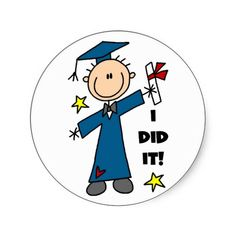 Image detail for -Stick Figure Boy Graduate T-shirts and Gifts Stickers | Zazzle.co.uk