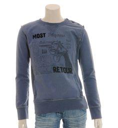 Retour jeans Sweater model Donovan in blauw - NummerZestien.eu