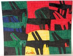 Willie White war ein amerikanischer Art Brut Künstler, der von 1908-2000 lebte und mit farbigen Markern grossflächige, relativ grosse Zeichnungen machte.