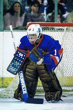 New York Islanders goaltending history : Roland Melanson Hockey Goalie, Hockey Games, Field Hockey, Hockey Players, Ice Hockey, Field Goal Kicker, Hockey Room, Goalie Mask, New York Islanders