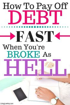 Learn How To Get Out Of Debt Fast. This guide teaches you how to pay off your debt fast even if you have a low income. It's time to start living debt free Dave Ramsey, Budgeting Finances, Budgeting Tips, Low Key, Debt Free Living, Paying Off Credit Cards, Get Out Of Debt, Debt Payoff, How To Get