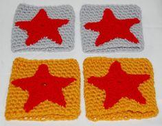 Crochet Wonder Woman Cuffs in Silver or Gold by efficientsense