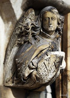 **Angel (architectural detail), Westminster Abbey, London by antonio-m