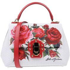Dolce & Gabbana Handbag ($1,400) ❤ liked on Polyvore featuring bags, handbags, white, white studded handbag, floral purse, doctor bag, dolce gabbana handbags and dolce gabbana purses