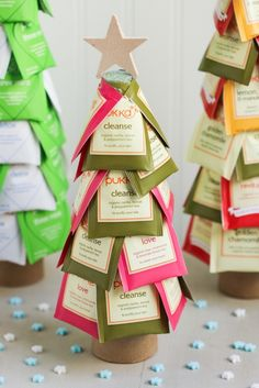 15 Handmade Christmas Ideas- Christmas tea trees