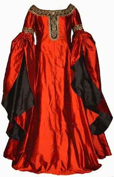 12th Century reproduction I could see this on C in shades of blue dark with light for sleeve lining.