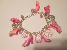 Pastel Pink and White Barbie Shoe Bracelet / by ZoesBarbieShoes, $15.00