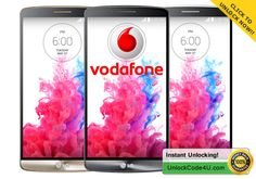 Unlock LG by unlock code from Vodafone in minutes :) Lg G3, Coding, Programming