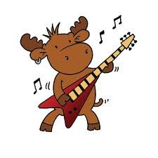 cute moose cartoon - G...