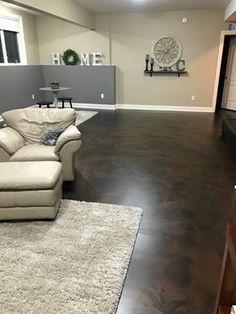 basement flooring Giving a little maintenance to your concrete floors from time to time will ensure their looks and health. Learn how to maintain concrete floors with our comprehensive guide! Concrete Floor Repair, Finished Concrete Floors, Concrete Basement Floors, Painted Concrete Floors, Repair Floors, Plywood Floors, Concrete Countertops, Concrete Lamp, Ideas For Concrete Floors