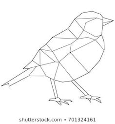Discover recipes, home ideas, style inspiration and other ideas to try. Geometric Bird, Geometric Quilt, Geometric Drawing, Hipster Drawings, Easy Drawings, Stained Glass Patterns, Mosaic Patterns, Triangle Art, 3d Pen