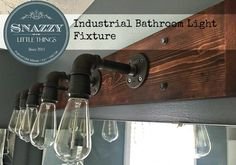 DIY Industrial Bathroom Light Fixture - Snazzy Little Things featured on Kenarry: Ideas for the Home