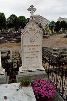 Tomba di Arthur Rimbaud. Marsilia (1854-91)