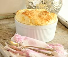 Julia Child's Lobster Cheese Souffle for the #JC100, by Noshing with the Nolands  http://noshingwiththenolands.com/julia-childs-lobster-cheese-souffle-2/