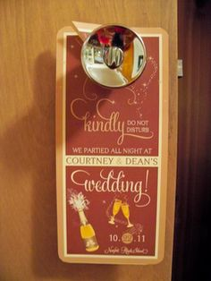 Absolutely hate the colors, but a cute idea for out-of-town guests' hotel room doors!