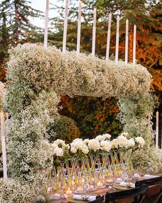 "LEBANESE WEDDINGS (@lebaneseweddings) posted on Instagram: ""Set amid a picturesque surrounding, a rustic affair reception awaited the guests 🍃 Rustic tables were decorated with natural & dyed Baby's…"" • Aug 29, 2020 at 5:23pm UTC Wedding Reception Chairs, Wedding Table Setup, Reception Design, Event Design, Wedding Ceremony, Pink Wedding Gowns, All White Wedding, Wedding Flowers, Wedding Bells"