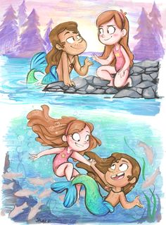 Mabel and Mermando by sharpie91.deviantart.com on @deviantART