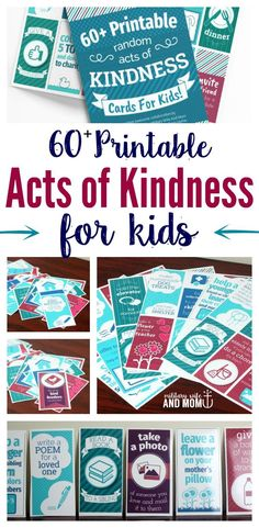Learn 60+ printable random acts of kindness ideas for kids. Plus, a 3-part guide for getting your kids on board with kindness. via @lauren9098
