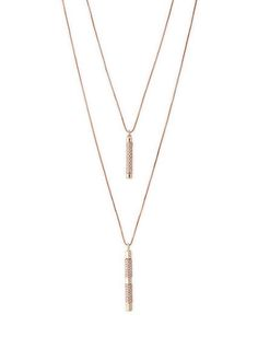 Convertible Pave Bar Necklace