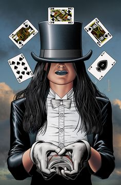 Okay so I have a costume party coming up, need to dress up as someone/something beginning with a Z.... Zatanna from DC Comics seems legit, now I just need a white corset hmmm