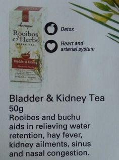 Bladder & Kidney Tea by Annique this really works! Diy Beauty, Beauty Hacks, Nasal Congestion, Water Retention, Health And Beauty Tips, Detox, Beauty Products, Remedies, Therapy