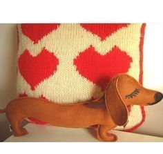 Barbeque the Dachshund Weiner Dog Wool Felt Applique Plush Doll Pillow by Cuore on Etsy https://www.etsy.com/listing/202172887/barbeque-the-dachshund-weiner-dog-wool