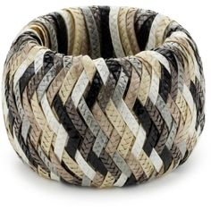 """Marv Graff """"Seychelles"""" Lacquered Raffia 2.5"""" Wide Braided Bangle... ($180) ❤ liked on Polyvore featuring jewelry, bracelets, hinged bangle, bangle jewelry, wide bangle, bangle bracelet and wide bangle bracelet"""