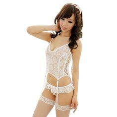 Hot Sexy Lingerie bridal Lace Belted Sleepwear Garter Belt G string babydoll F High Quality