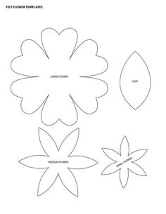 Moldes para hacer flores de fieltro (1)