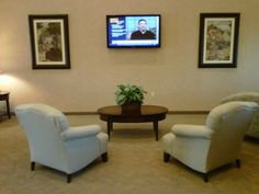 Seated Lobby Area with Flat Screen T.V.