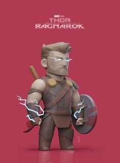 ArtStation - Thor Fanart, Piyapong Yusi