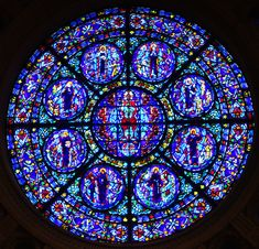 This stunning rose window is in the Cathedral of St. Paul in St. Paul, Minnesota.
