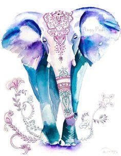 Artículos similares a Blue Elephant Watercolor Animal Painting, Animal Art, Home Wall Decor, Watercolor Art Print - 182 en Etsy Elephant Artwork, Elephant Love, Elephant Print, Elephant Paintings, Water Color Elephant, Indian Elephant Art, Mandala Elephant, Elephant Drawings, Elephant Wallpaper