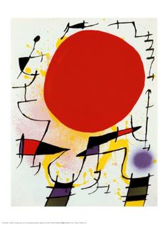 The Red Sun Joan Miró
