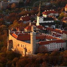 aerial view of Toompea, Vana Tallinn (Olde Towne, Tallinn)