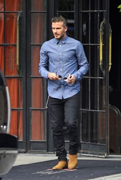 David Beckham where did you get your suede boots?