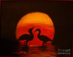 silhouette painting - Google Search