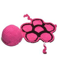 Needybee Pink Turtle Crochet Photo Prop Dress Up Set