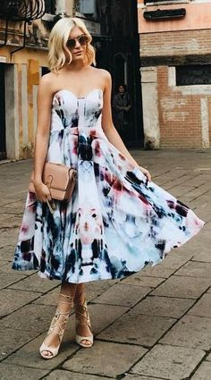 Bariano Floral Flux Ivory Floral Print Midi Dress                                                                                                                                                                                 More