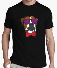 Camiseta Boxer pajarita dog perro