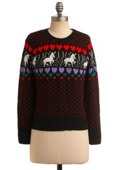 Vintage sweater with unicorns? This is too good to be true.