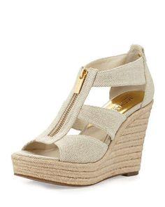 MICHAEL Michael Kors Berkley T-Strap Flat Sandal, Black