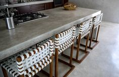 Beautiful Cemcrete cement-based counter by Cemtech